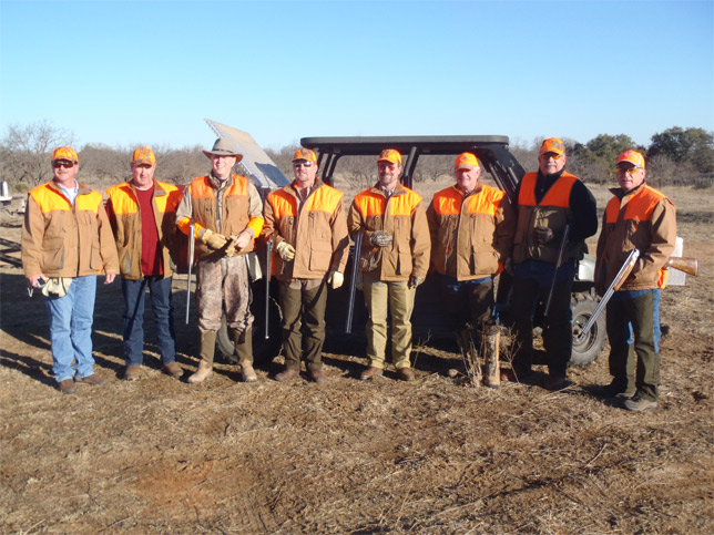 Hunting Group on Texas Ranch