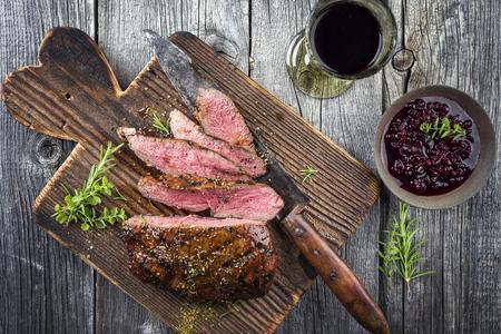 Venison meat from seasonal hunt